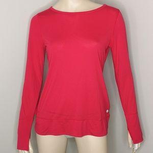 Gap Dry Fit Long Sleeve Tee V Back Athletic Top